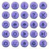 Ensemble de boutons ronds en pierre Illustration Libre de Droits