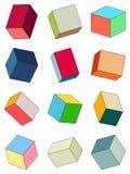 Ensemble de briques multicolores illustration stock