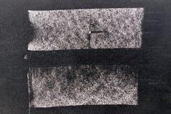 Ensemble de brosse blanche grunge d'art de craie dans la ligne forme carrée Image stock