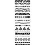 Ensemble de brosses géométriques de modèle dans le style ethnique tribal Photo libre de droits