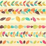 Ensemble de brosses sans couture florales abstraites Photographie stock
