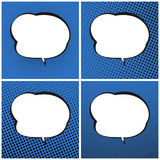 Ensemble de bruit bleu Art Retro Speech Bubble Photographie stock
