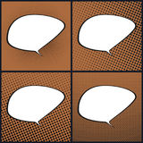 Ensemble de bruit orange Art Retro Speech Bubble Photos stock
