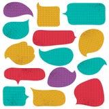 Ensemble de bulle spéciale de couleur avec la texture de tricots, vecteur Images libres de droits