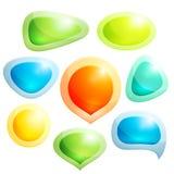 Ensemble de bulles colorées pour la parole illustration stock