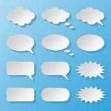 Ensemble de bulles de papier de la parole Photos stock