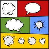 Ensemble de bulles et d'éléments comiques Vecteur Images stock
