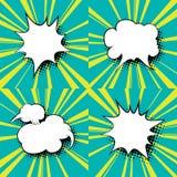 Ensemble de bulles de la parole, bruit Art Background Illustration Libre de Droits