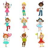 Ensemble de célébration d'enfants illustration libre de droits