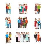 Ensemble de célébrer le vecteur de personnes de vacances de famille illustration libre de droits