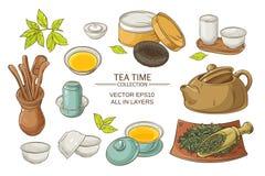 Ensemble de cérémonie de thé Illustration Stock