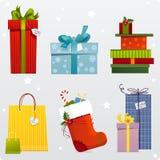 Ensemble de cadeaux Photos stock