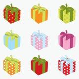 Ensemble de cadre de cadeau. Photographie stock