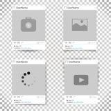 Ensemble de cadre de photo de calibre de vecteur Cadre social de photo de réseau conception pour votre photographie et photo Photo stock