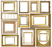 Ensemble de cadre de tableau d'or de cru photo libre de droits