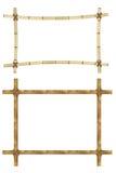 Ensemble de cadre en bois de vieux bâtons en bambou illustration de vecteur
