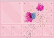 Ensemble de cadre en verre sur l'illustration de vecteur de fleur de conception d'aquarelle Photographie stock