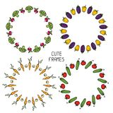 Ensemble de cadres colorés des légumes Illustration Photo libre de droits