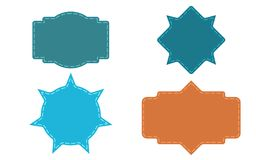 Ensemble de cadres de couleur illustration stock