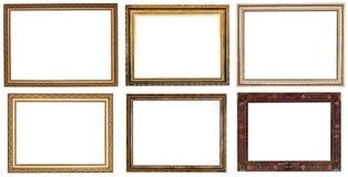 Ensemble de cadres de tableau en bois de retrot large Images stock
