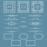 Ensemble de cadres et de diviseurs de vintage Vous pouvez employer le retour pour la conception et l'exécution des invitations, p illustration de vecteur