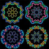 Ensemble de cadres ronds ornementaux géométriques Photos libres de droits