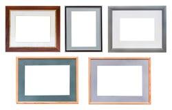 Ensemble de cadres de tableau avec le passepartout d'isolement Photos stock