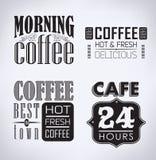 Ensemble de café, éléments typographiques de café illustration libre de droits