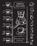 Ensemble de café illustration de vecteur