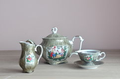 Ensemble de café de porcelaine Image stock