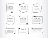 Ensemble de calibre de citation Boîte de la parole de citation Illustration de vecteur illustration stock