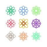 Ensemble de calibre de conception de Mandala Geometric Symbol Illustration Graphic illustration libre de droits