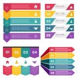 Ensemble de calibre d'éléments d'Infographic Pour la présentation d'affaires, calibre de site Web illustration stock