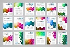 Ensemble de calibre de brochure, de conception d'insecte ou de couverture de Depliant pour la présentation d'affaires Photo libre de droits