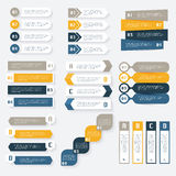 Ensemble de calibre de conception d'infographics de vecteur pour vos affaires pré Images stock