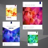 Ensemble de calibre de conception de couverture de brochure de vecteur avec Image stock