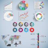 Ensemble de calibre de conception de vecteur d'Infographics Image stock
