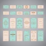 Ensemble de calibre de luxe de conception de menu de restaurant de salutation de vintage Photo libre de droits