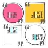 Ensemble de calibre de place de citation et de bulle de la parole illustration stock