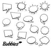 Ensemble de calibre vide dans le style d'art de bruit Image tramée comique Dot Background de bulle de la parole des textes de vec Illustration Stock