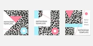 Ensemble de calibres abstraits d'instagram Pour des comptes personnels et d'affaires images stock
