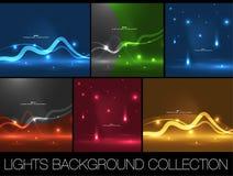 Ensemble de calibres brillants de conception d'énergie de l'espace illustration stock