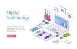 Ensemble de calibres de conception de page Web pour des achats en ligne, le marketing numérique, le travail d'équipe, la stratégi Illustration de Vecteur