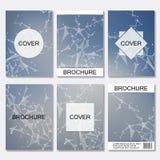 Ensemble de calibres d'affaires pour la brochure, insecte, magazine de couverture dans la taille A4 ADN de molécule de structure  Photo stock
