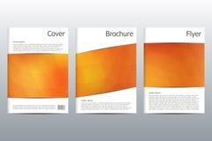 Ensemble de calibres d'affaires pour la brochure, insecte, magazine de couverture dans la taille A4 Forme triangulaire Fond abstr Photographie stock libre de droits
