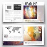 Ensemble de calibres d'affaires pour la brochure, magazine, insecte, rapport Construction moléculaire, lignes reliées et points Photographie stock