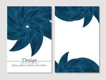 Ensemble de calibres de conception de vecteur Couverture abstraite de livret de vecteur Brochure de beauté Bleu et blanc Illustration de Vecteur