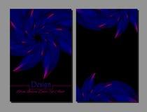 Ensemble de calibres de conception de vecteur Couverture abstraite de livret de vecteur Brochure de beauté Bleu, rose et noir Illustration de Vecteur