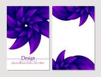 Ensemble de calibres de conception de vecteur Couverture abstraite de livret de vecteur Brochure de beauté Violette et blanc Illustration de Vecteur