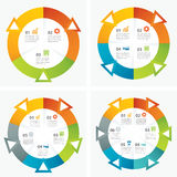 Ensemble de calibres infographic illustration stock